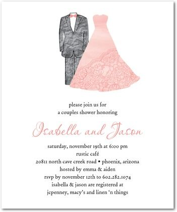 13 best invitations birthday images on pinterest invitation love this couples shower invite especially the pink dress stopboris Image collections