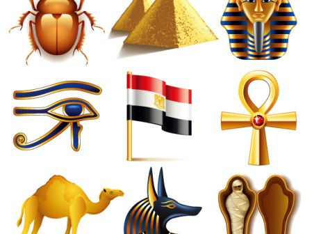 Egypt featured elements vector