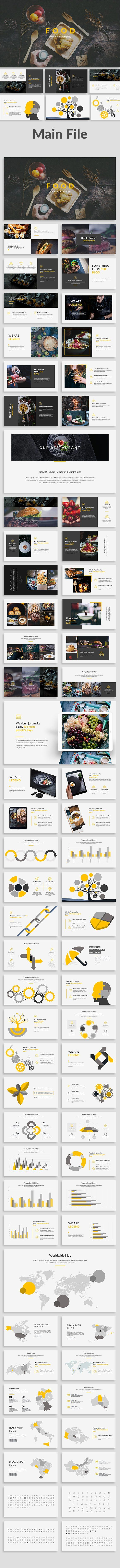 The Food Keynote Template by Zin Studio on @creativemarket