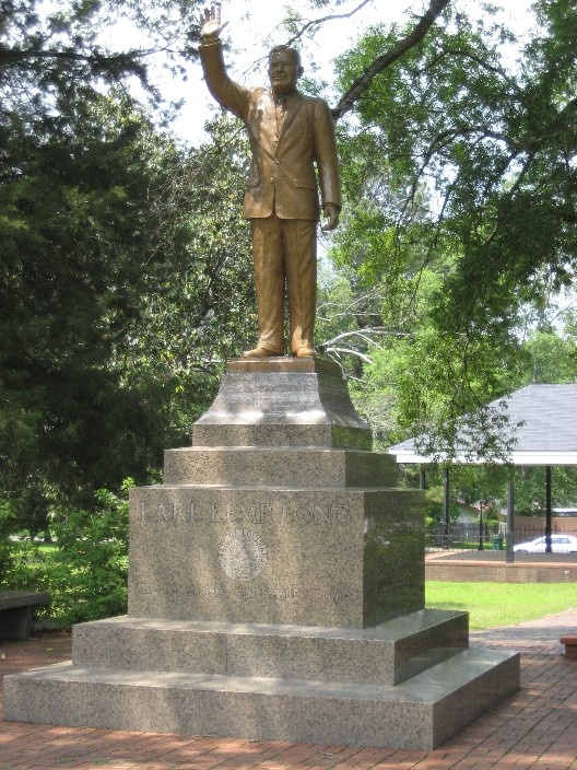 Statue of Governor Earl K Long in Winnfield , La which is the birth place of Huey P, Earl K and Russell Long.  Home of three governors.