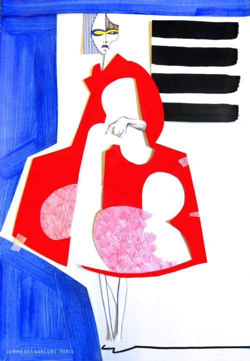 Fashion illustration by Connie Blackaller