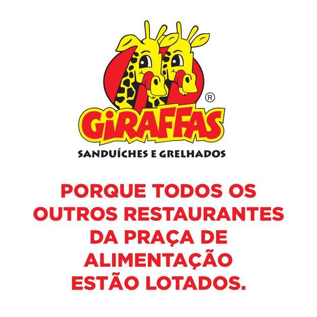 giraffas: porque todos os outros restaurantes da praça de alimentação estão lotados.