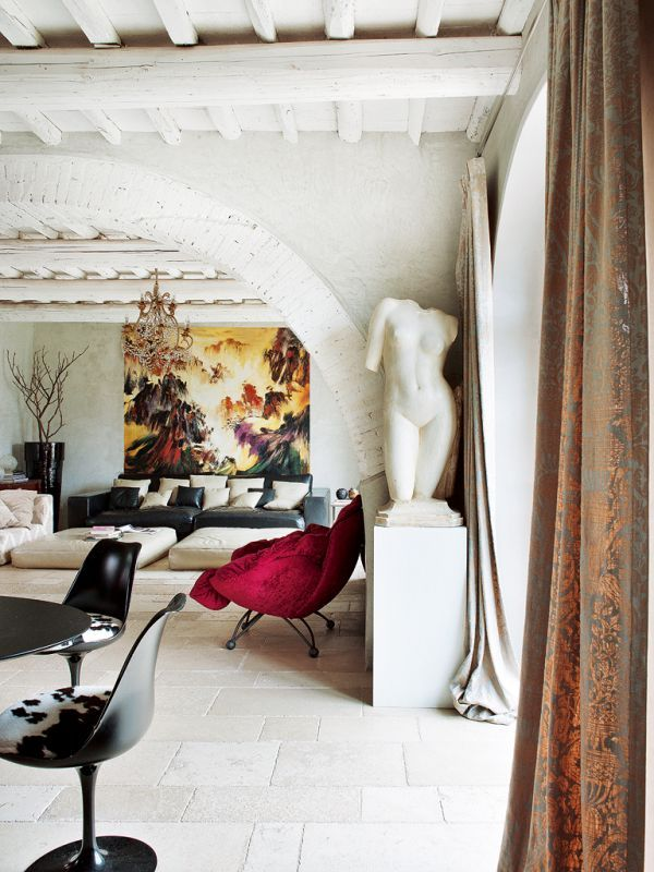 Return To The Origins: Charming Country House Toscanassa eklektinen sisustus