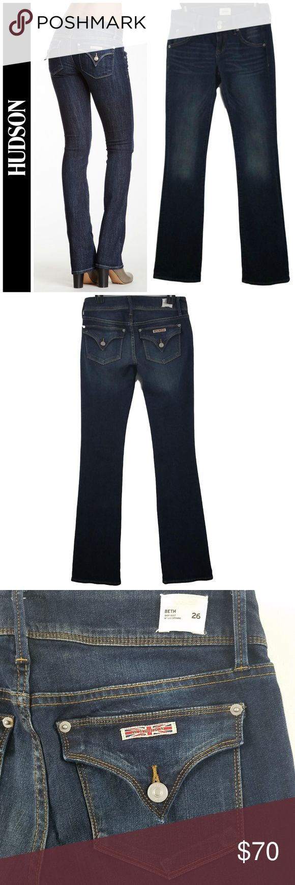 Beth Mid Rise Baby Bootcut Jeans