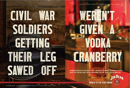 Jim Beam Whiskey Ad — Designspiration