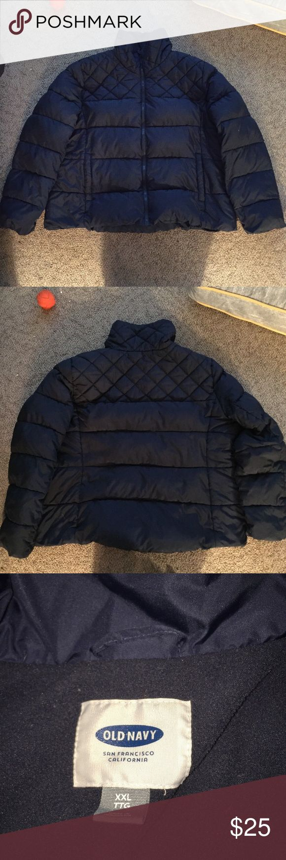 Old Navy Women's Puffer Coat XXL Navy Like New Old Navy Women's Puffer coat in XXL Navy blue, hardly worn, in like new condition.  Very cute, just doesn't fit me. Old Navy Jackets & Coats Puffers
