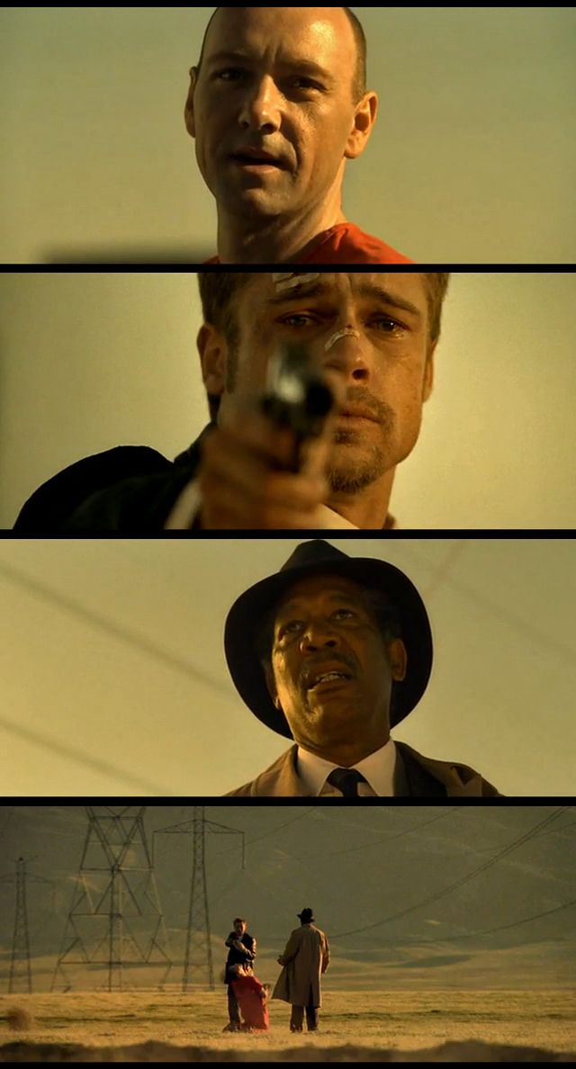 DAVID FINCHER!  Whose MILLSTONE!   Se7en, 1995 David Mills (Pitt) William Somerset (Freeman) . The best!