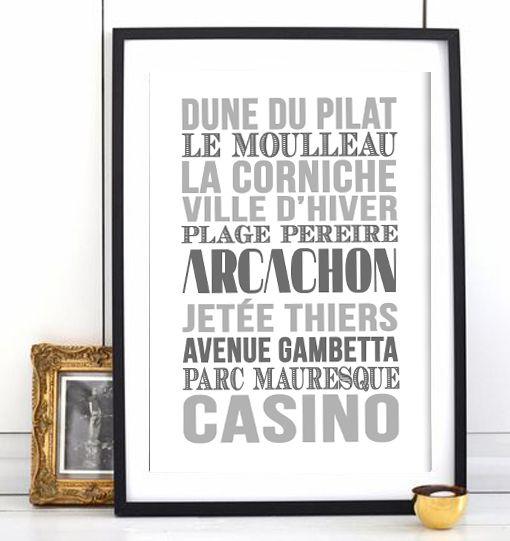 Affiche Bord de mer «Arcachon»