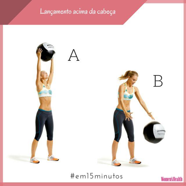 Em 15 minutos: treino com bola medicinal | Fitness | Womenshealth.pt, imperfeitamente perfeita!