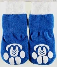 Socks for dogs..no really, this seems silly but they ARE practical for older dogs that have trouble walking on slippery surfaces, such as wood floors.