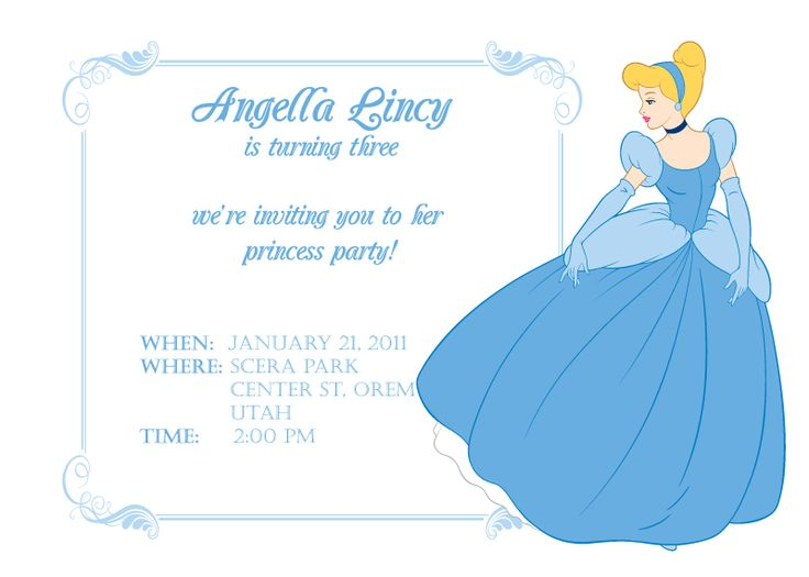 170 best free printable birthday party invitations images for Cinderella invitation to the ball template