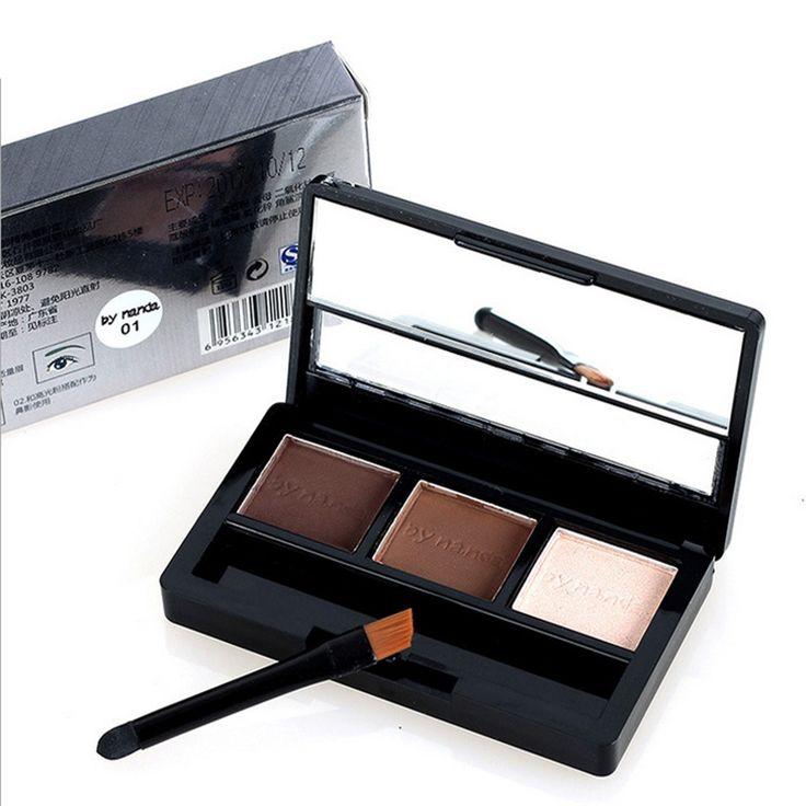 Eye Brow Makeup Kit Set 3 Color Waterproof Eye Shadow Eyebrow Powder Make Up Palette Women Beauty Cosmetic M01650