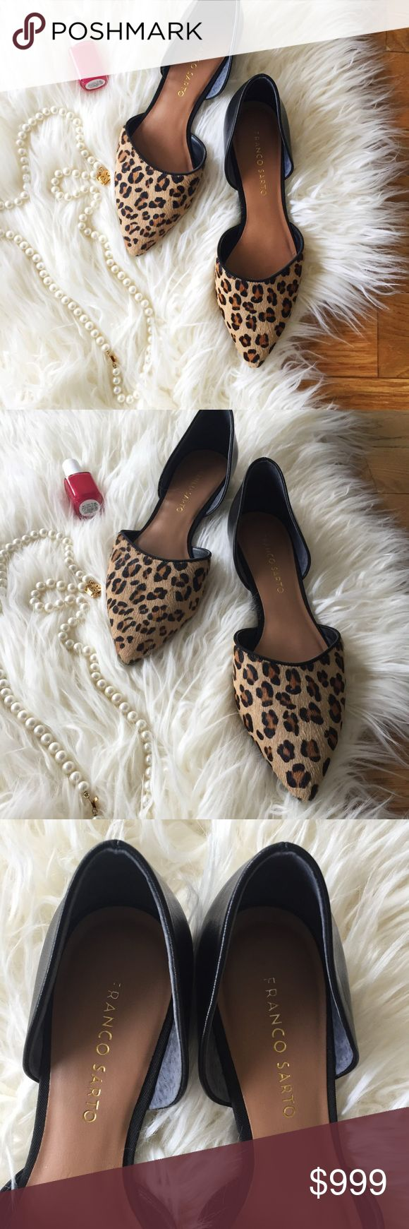 Franco Sarto cheetah print leather flats These are such cute leather flats that go with anything! Very lightly worn, the bottoms and insides shoe no signs of significant wear. Add these to a pair of skinnies and a black top for a cute outfit! Franco Sarto Shoes Flats & Loafers