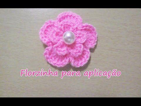 flor de crochê passo a passo | Rosa - JNY Crochê - YouTube
