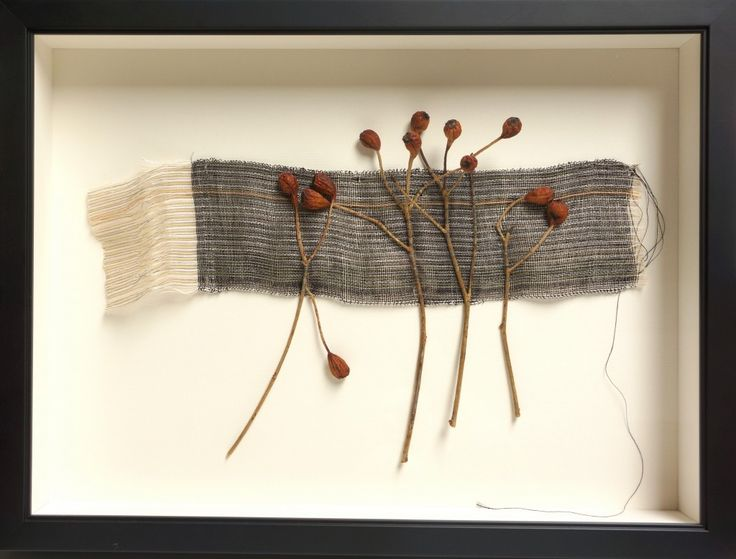 Weaving with Rose Hips #2 ... Peggy Osterkamp