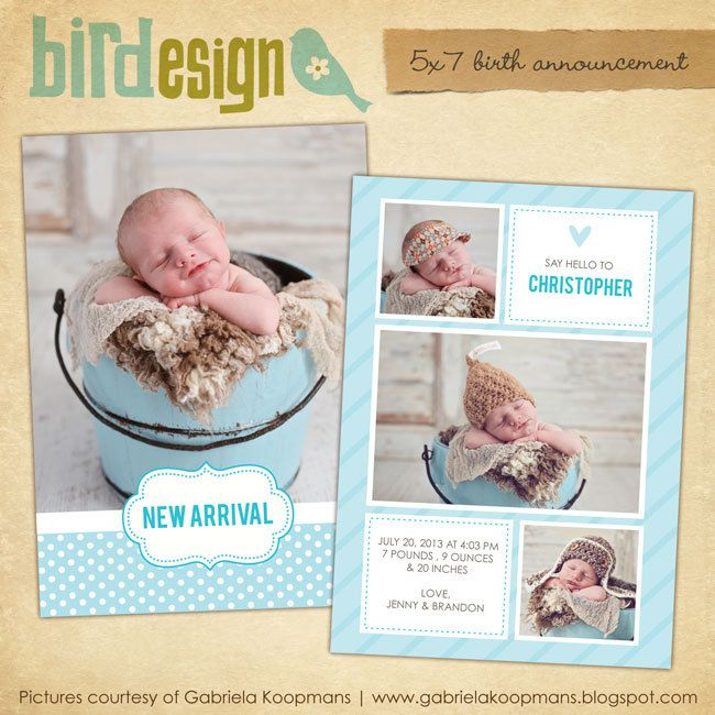 14 Best Announcement Templates Images On Pinterest | Birth