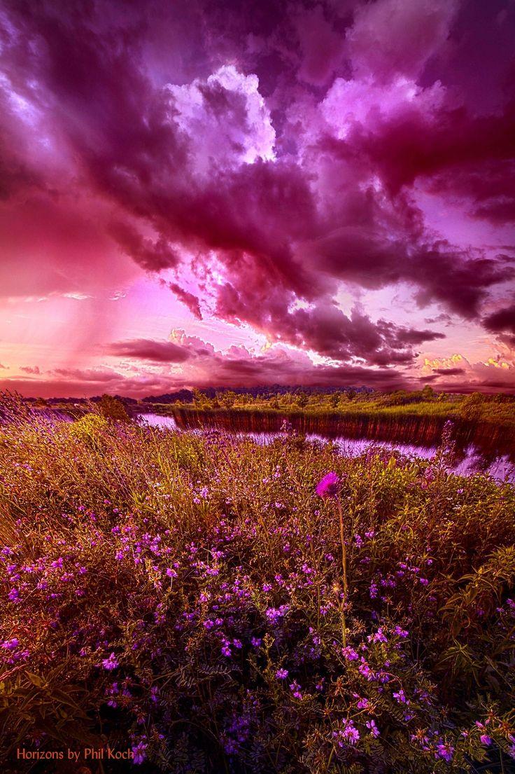 картинки фиолетовый пейзаж создаем