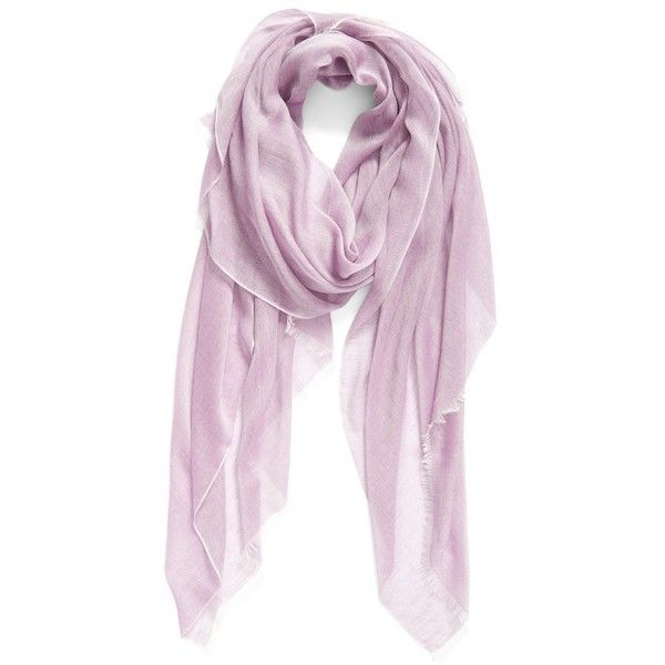Women's Nordstrom Modal Silk Blend Scarf ($39) ❤ liked on Polyvore featuring accessories, scarves, purple foxglove combo, nordstrom scarves, purple shawl, nordstrom shawls and purple scarves