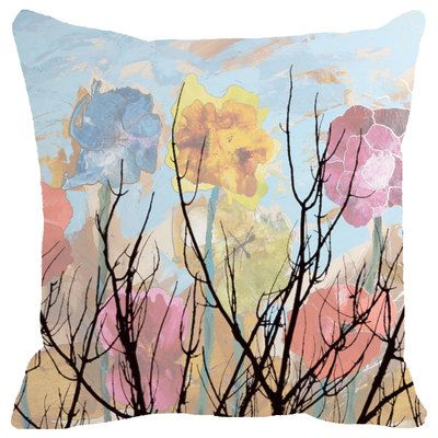 Leaf Designs Multicoloured Cloudy Floral Cushion Cover Cushion Covers on Shimply.com