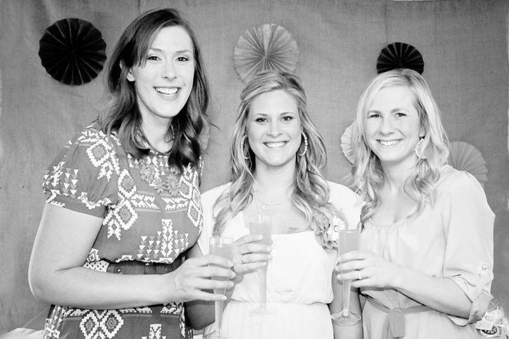 Rustic + Elegant Bridal Shower Ideas Bride-to-be with her bridal shower hosts #bridalshower