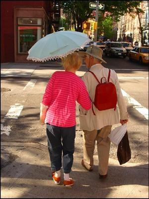 Old Couple with Umbrella: New Yoek City: Older Feeling, Umbrellas, Gentleman Holds, Elderly Couples, Old Couples, Growing Older, True Gentleman, Golden Years