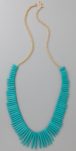 I could make this: Kenneth Jay Lane, Fashion, Turquoise Sticks, Turquoise Statement Necklaces, Turquoise Necklace, Turquoi Sticks, Sticks Necklaces, Gold Necklaces, Lane Turquoise