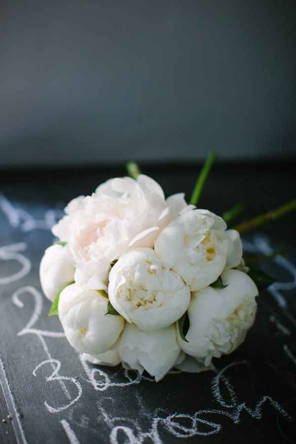Peonies // Bride's bouquet – white