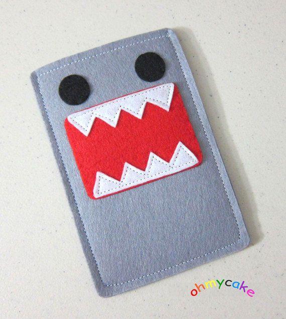 "Domokun!!!  Handmade iPhone Felt Case - "" Kawaii Penguin "" Design. $16.00, via Etsy."