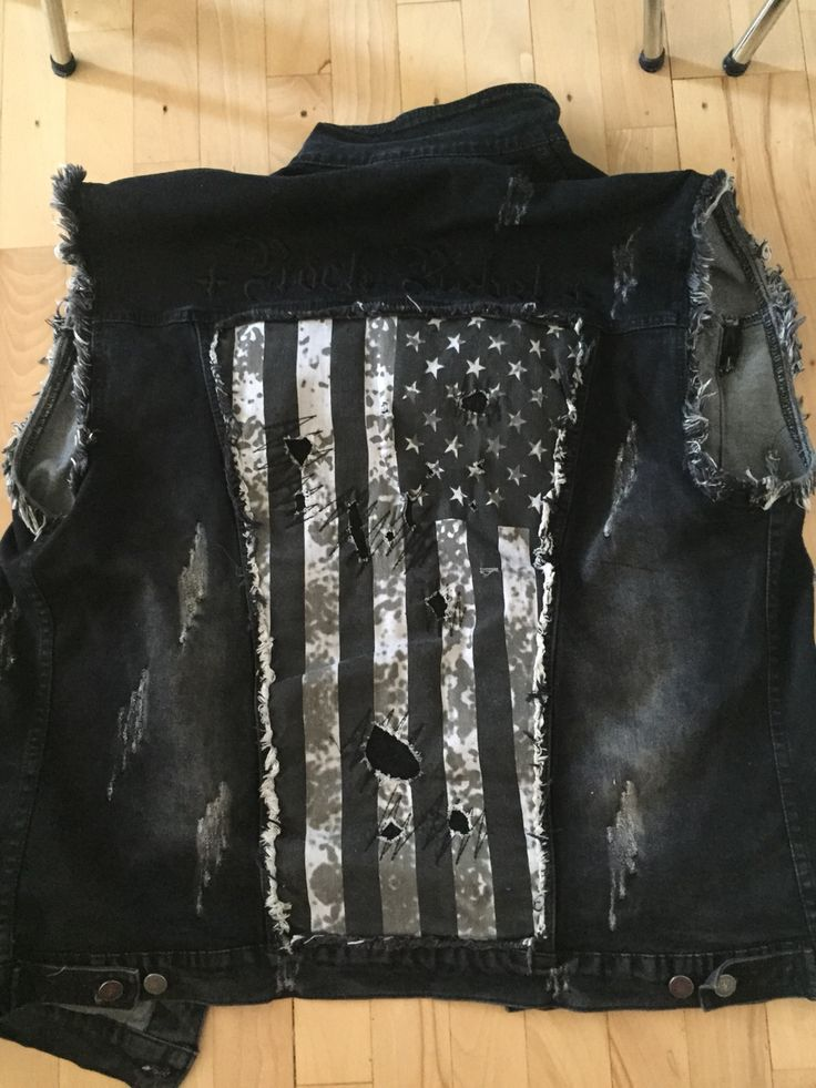 The back of my #summer #vest #rock #metal #rockrebel