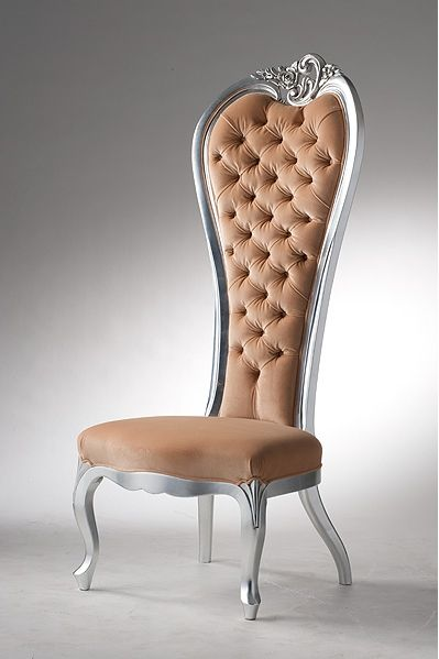 Chair With High Back, Queen Privilege   Versace Home