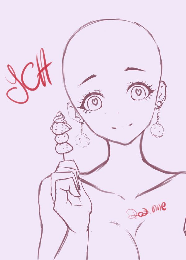 Ych 2 Strawberry Girl Open By Https Www Deviantart Com Rozunne On Deviantart Anime Poses Reference Anime Poses Female Drawing Base