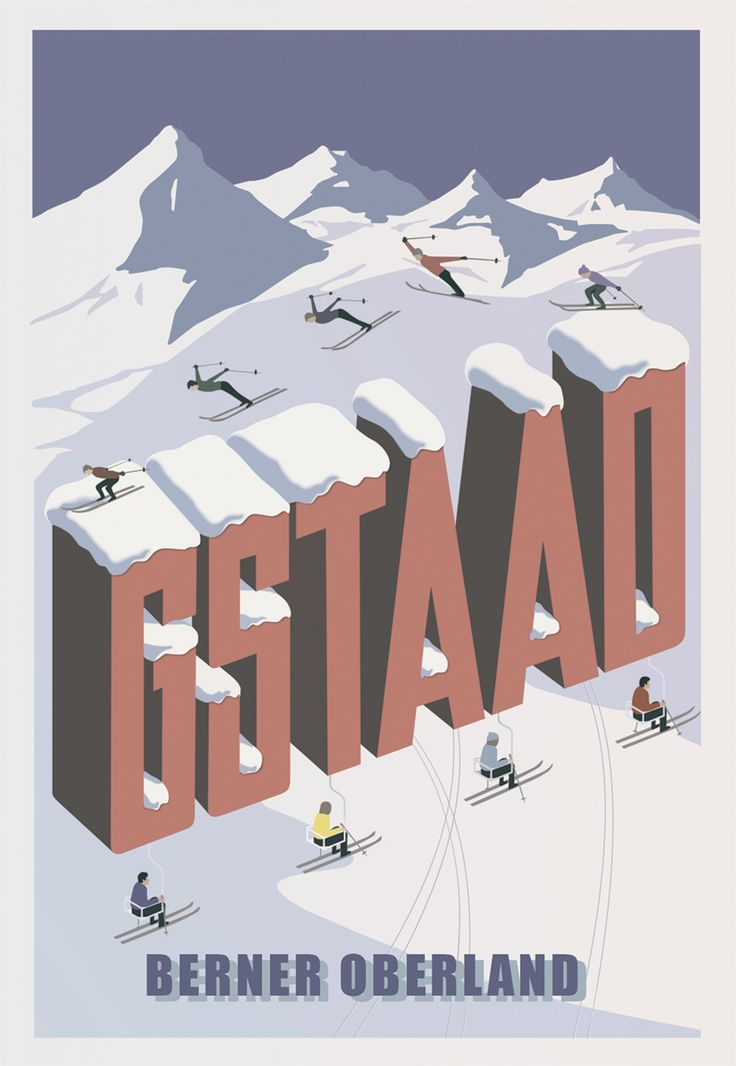 Gstaad poster - remastered