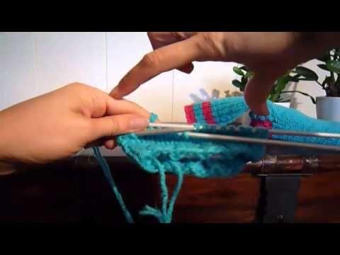 ▶ Hvordan strikke en hæl - YouTube