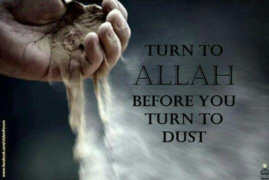 Kembalilah ke jalan Allah sebelum engkau kembali menjadi tanah.  #katamutiara #katabijaksana . . . Klik >> http://goo.gl/9FBAf5