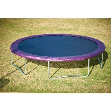 Aria Trampoline Replacement Pad for 15' Trampoline with 7 inch Springs, Black