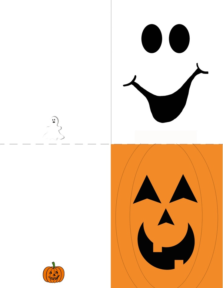 This is an image of Striking Free Printable Halloween Cards