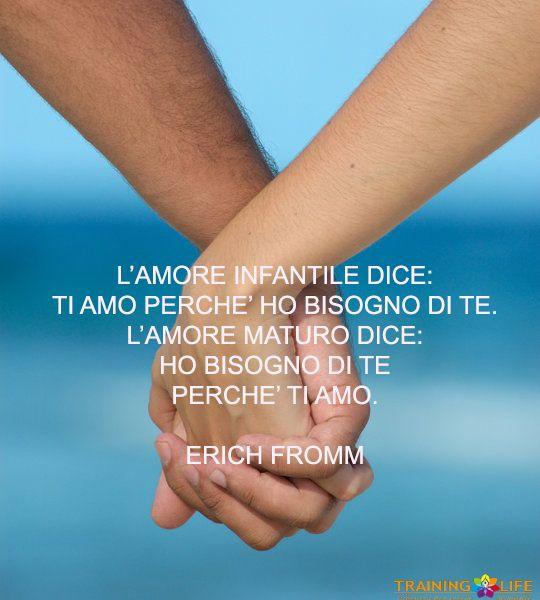 Solo l'Amore Maturo e Consapevole, ci permette di costruire relazioni sane e appaganti per la  nostra Vita.