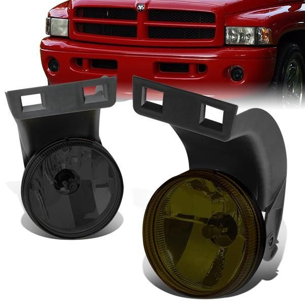 94 98 Dodge Ram 1500 2500 3500 Smoked Lens Fog Lights W Light Bulbs Dodge Ram 1500 Dodge Ram 1500
