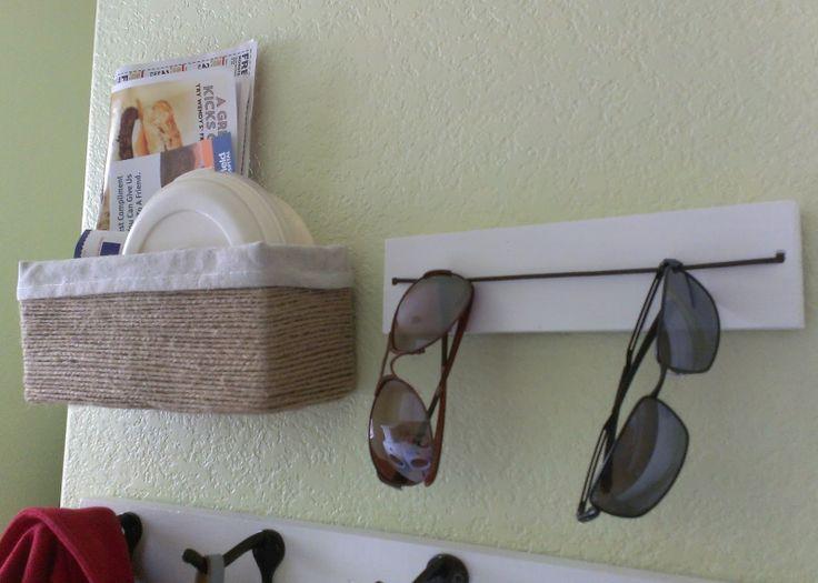 Could do a short version for bedside eyeglasses storage, too. diy sunglasses storage
