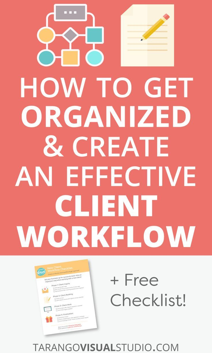 Successfully Run Your Business & Learn How to Get Organized and Create an Effective Client Workflow - Tarango Visual Studio Business Blog #Productivity #Organization #BusinessTips #Workflow #ClientWorkflow