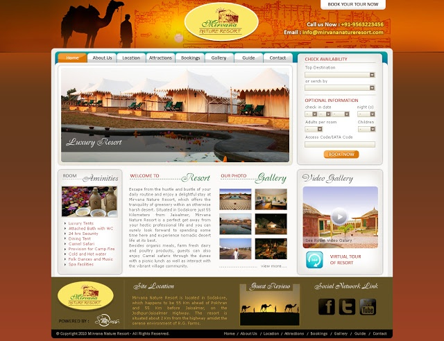 Hotel Website Design and Develoment