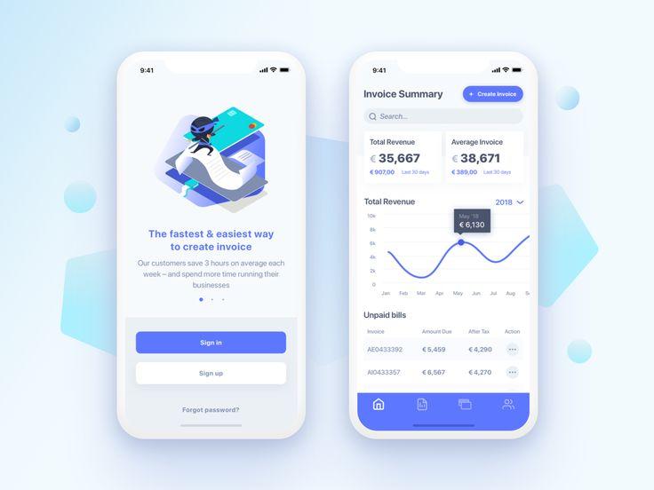 Sneak peek InNinja mobile app for invoicing
