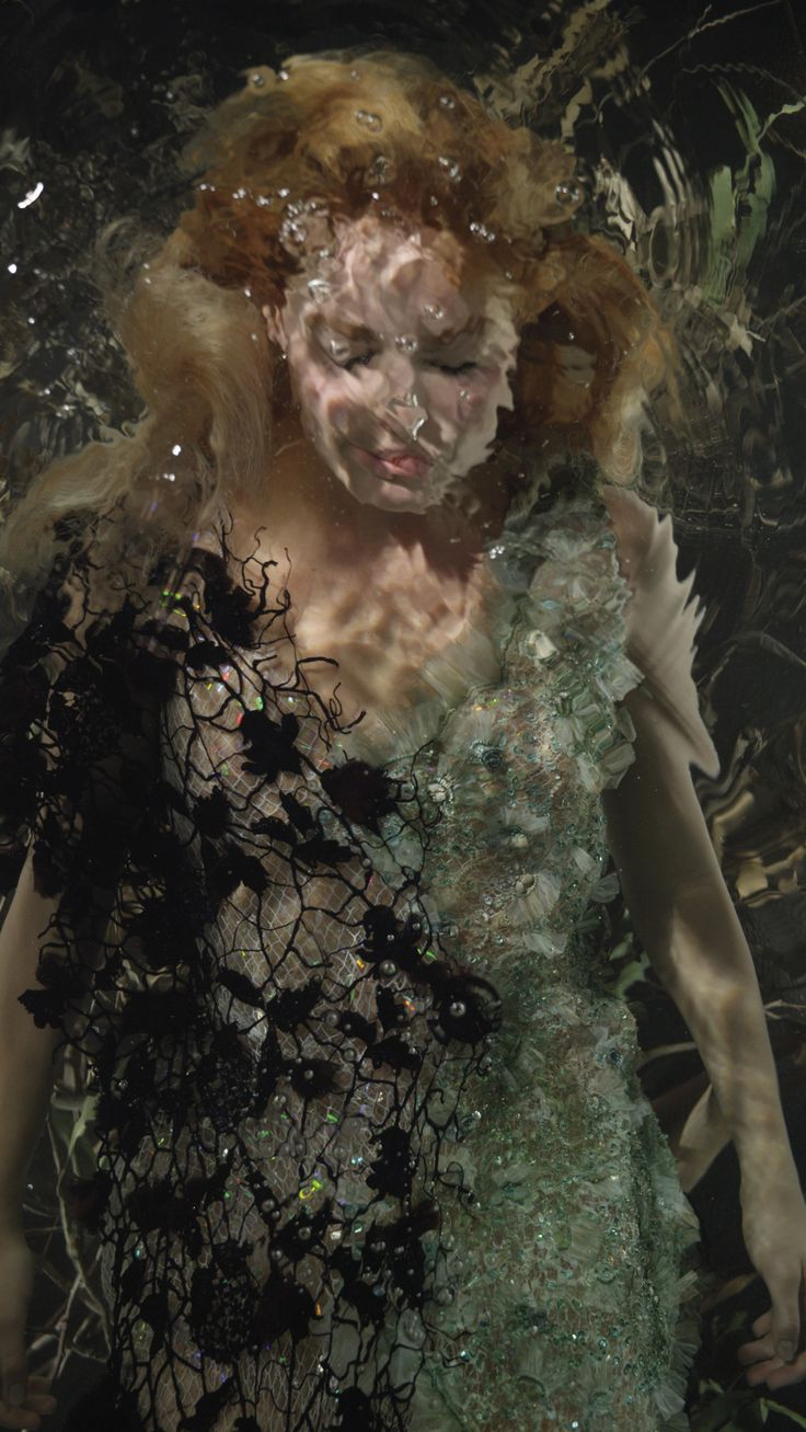 Margot Robbie Shot by Bill Viola - Actress Margot Robbie Goes Underwater for Artist Bill Viola | W Magazine