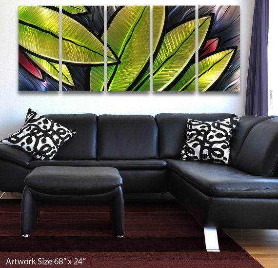 large metal wall sculpture tropical utopia by brian m by dv8studio
