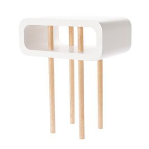 Open Minded White Side Table - Medium