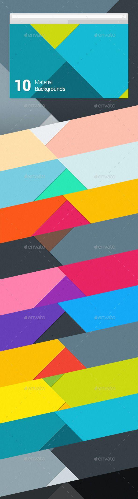 10 Material Design Backgrounds #design Download: http://graphicriver.net/item/10-material-design-backgrounds-vol-1/9981112?ref=ksioks