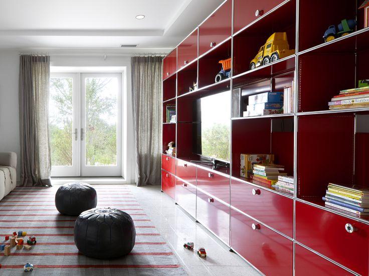 usm haller storage in usm ruby red design home pinterest a well offices and side tables. Black Bedroom Furniture Sets. Home Design Ideas