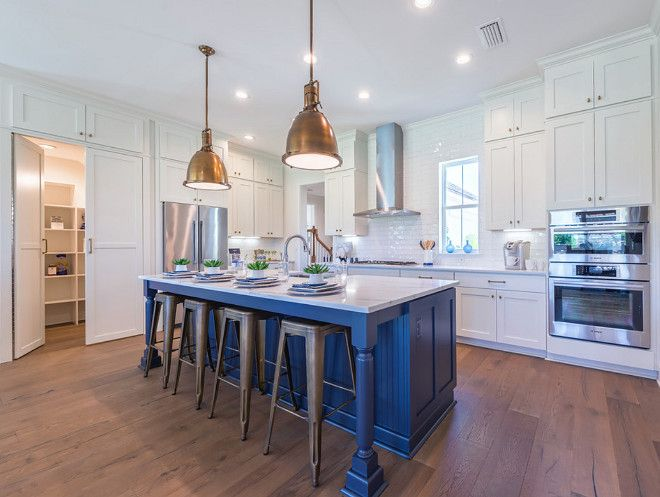 Kitchen With Hidden Walk In Pantry Flooring Is Chesapeake White Oak Provence Manor Outback