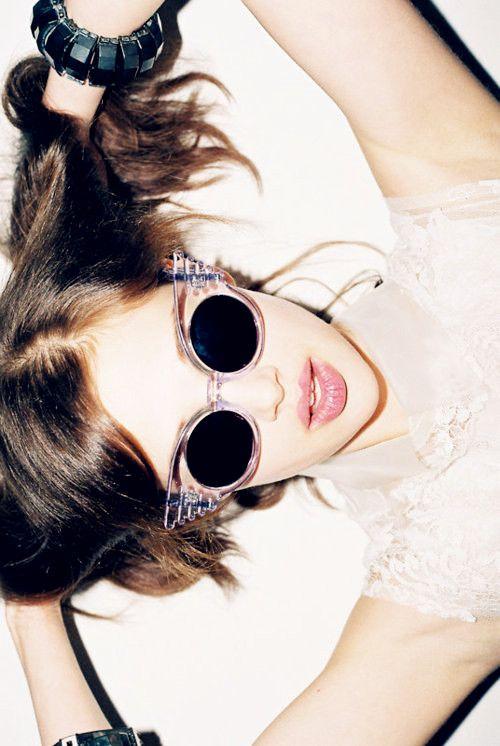 Linda Farrow Wings sunglasses by Jeremy Scott