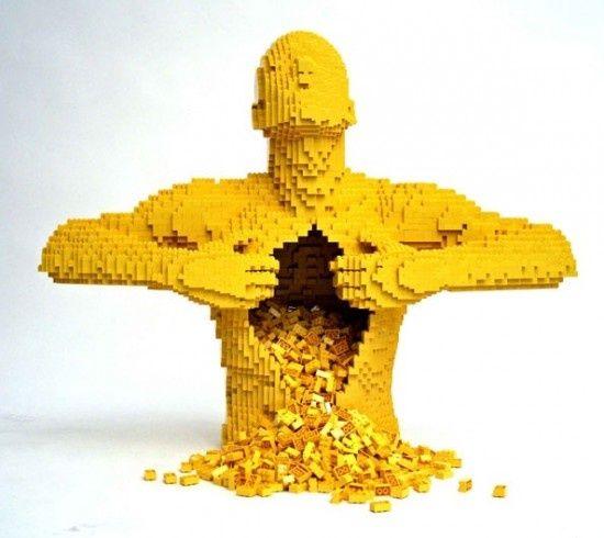 Lego ... sempre lego: Awesome Lego, Nathan Sawaya, My Sons, Lego Sculpture, Brick, Lego Art, Lego Creations, Creative Art, Cool Lego